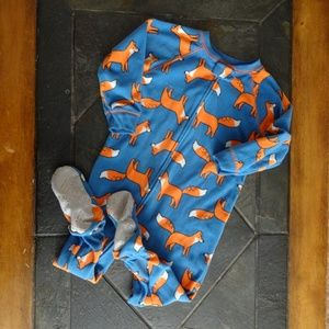 New Toddler Girls One Piece Plush Blue Scottie Footed Sleep & Play Pajamas Girls' Clothing (newborn-5t)